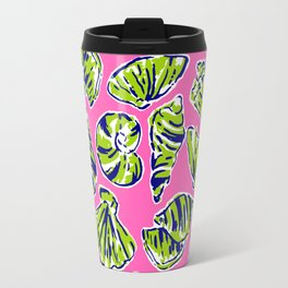 Shells on Pink Travel Mug