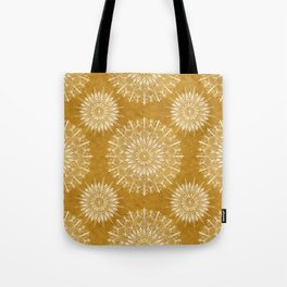 Vintage Mandala on Gold Tote Bag