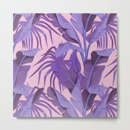 Tropical '17 - Starling [Banana Leaves] Metal Print