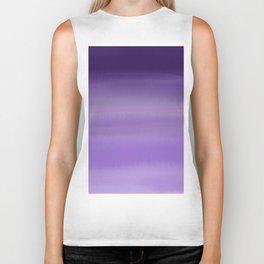 Modern painted purple lavender ombre watercolor Biker Tank