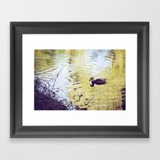 BE LIKE A DUCK. STAY CALM ON THE SURFACE BUT PADDLE LIKE HELL UNDERNEATH Framed Art Print