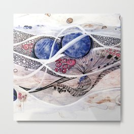 Space Planet Star Abstraction Metal Print