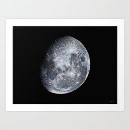 Moon scape Art Print