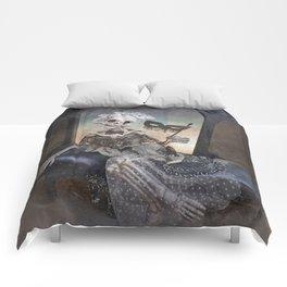 Catrina in Waiting Skeleton Large Format Comforters