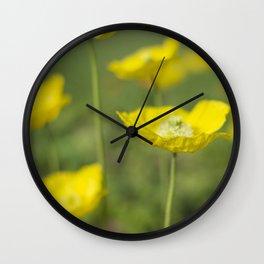 Dew Drops on Petals Wall Clock