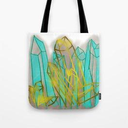 Crystals - Cyan Tote Bag