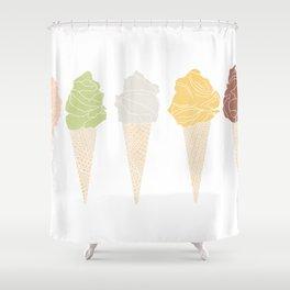 ice cream line Shower Curtain