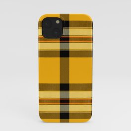 Argyle Fabric Plaid Pattern Autumn Colors Yellow and Black iPhone Case