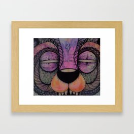 GRIZZLY SLASHER Framed Art Print