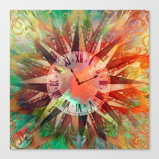 Synchronicity 11:11 Clock Face Time Design Canvas Print