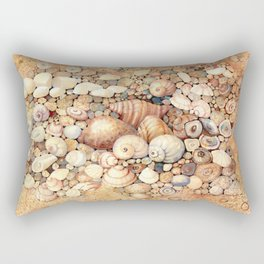 Shells on Sand Rectangular Pillow