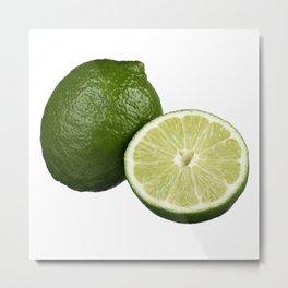 Lime Slice - Citrus lemonade Metal Print