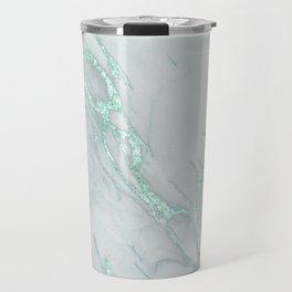 Marble Love Mint Metallic Travel Mug