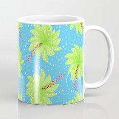 Pattern of Palm Tree-like Flowers Mug