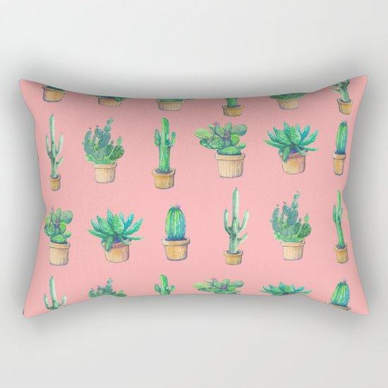 cactus pink, more cactus Rectangular Pillow