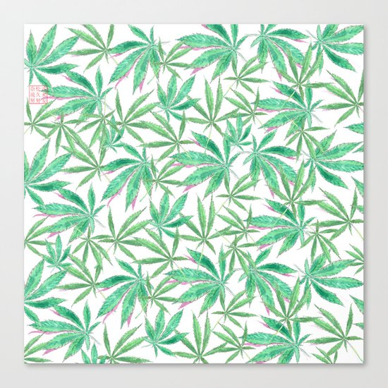 420 Leaves Canvas Print