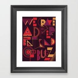 A Different Buzz Framed Art Print