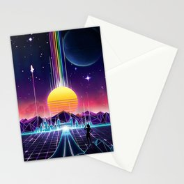 Neon Sunrise Stationery Cards