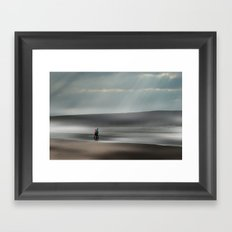 Misty walk Framed Art Print