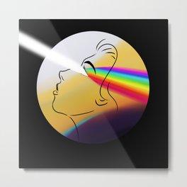 Prism Head Metal Print