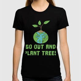 Nature Save the World plant 2 Tree Forest Weather flora T-shirt