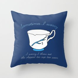 Belle's Chipped Cup Throw Pillow