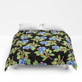 Wild Blueberry Sprigs Comforters