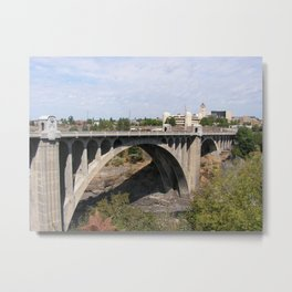 Monroe Street Bridge in Spokane Washington Metal Print