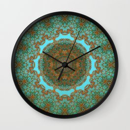 Spiritual art - Diaphanous moods mandala  Wall Clock