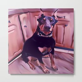 Neil D Pinscher Metal Print