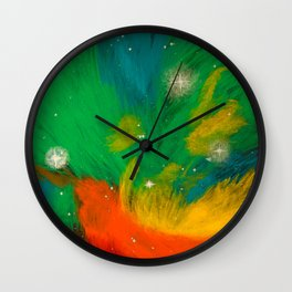 Pleiadian Nebula Wall Clock