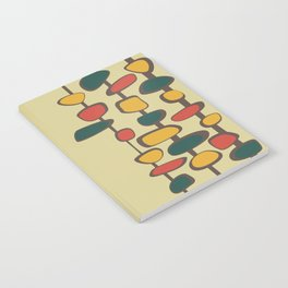 Mid Century Modern Baubles (gold) Notebook