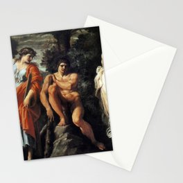 Annibale Carracci - The Choice of Hercules Stationery Cards