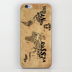 world map typography vintage iPhone & iPod Skin