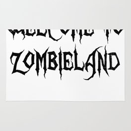 I live in Zombieland Rug