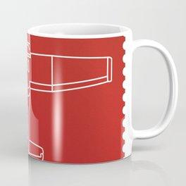 Stamp series - Red Square Cesna Coffee Mug