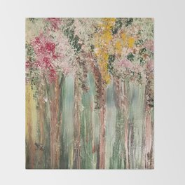 Woods in Spring Throw Blanket