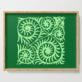 William de Morgan Abstract Fern, Emerald Green Serving Tray