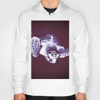 sea turtle Hoodies featuring Sea Turtle by DistinctyDesign