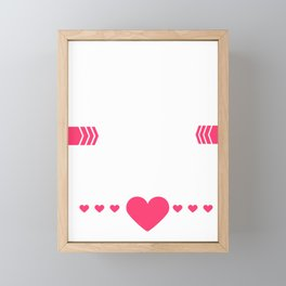 Love Is In The Air Cupids Hearts Valentines Day Romance Lovers Date Gift Framed Mini Art Print