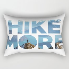 Hike More Rectangular Pillow