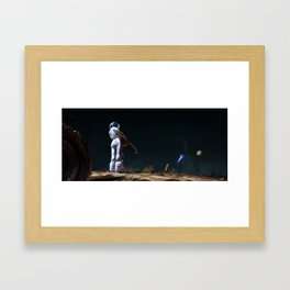 Astro Nostalgy Framed Art Print