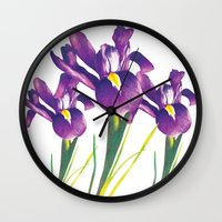 iris Wall Clocks featuring Iris by Matt McVeigh