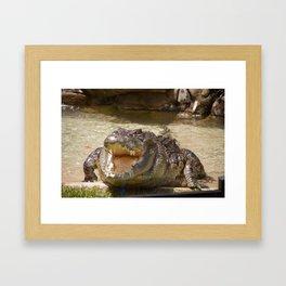 Crocodilian Framed Art Print