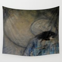 imagerybydianna Wall Tapestries featuring dreaming in tennyson's tower by Imagery by dianna