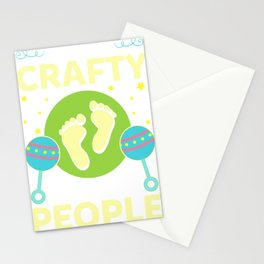 New Mom Humor I Am So Crafty I Make People New Baby Stationery Cards
