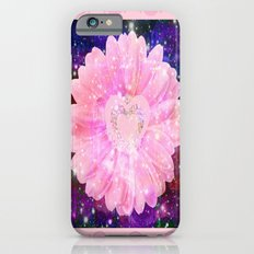 Pink flower with sparkles  iPhone 6s Slim Case