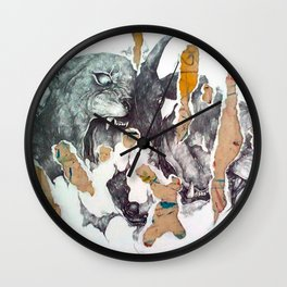 black goat Wall Clock