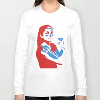 feminism Long Sleeve T-shirts featuring Feminism by DebbieHughes