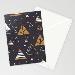Polar Winter Tree Abstract Pattern Stationery Cards